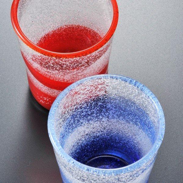 名入れ 沖縄琉球ガラス 泡チュラマーブルタンブラー 単品