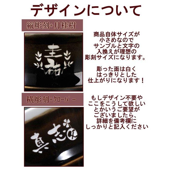 名入れ 波佐見焼 天目熱燗・冷酒カップ&九州菊吟醸酒お一人様セット