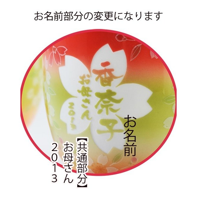 名入れ 有田焼 三色桜湯飲み 単品 パープル