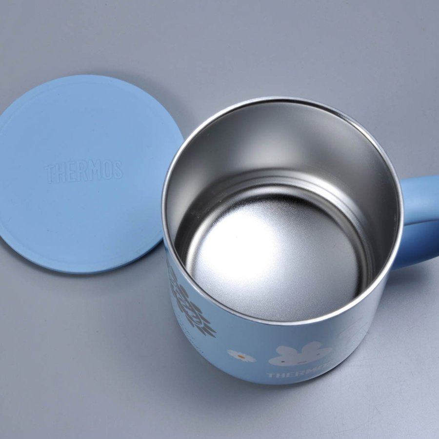 名入れ ミッフィー サーモス 真空断熱マグカップ350ml ライトブルー