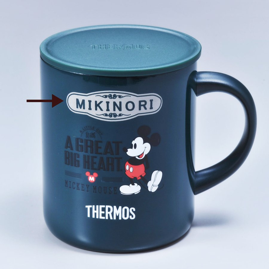 名入れ サーモス 真空断熱マグカップ 350ml ミッキー ミニー