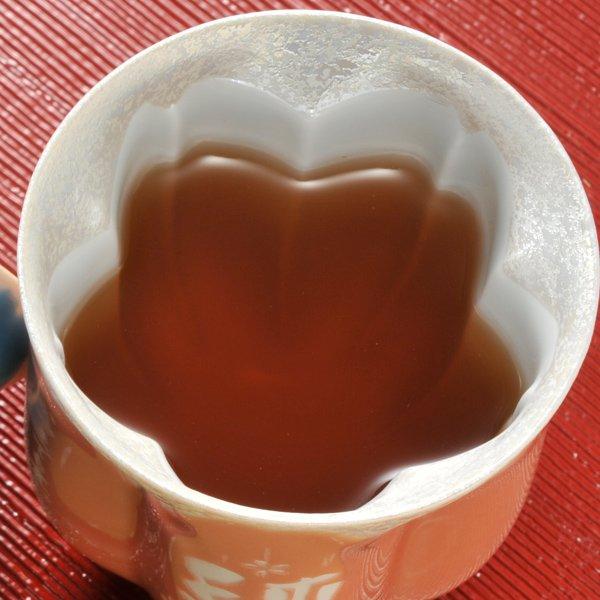 名入れ 有田焼 桜型 高級湯のみ 単品