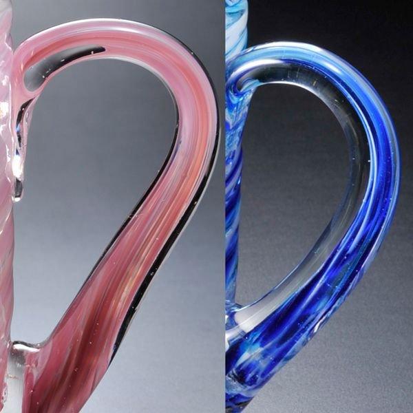名入れ 琉球ガラス マーブル ビアジョッキ 単品
