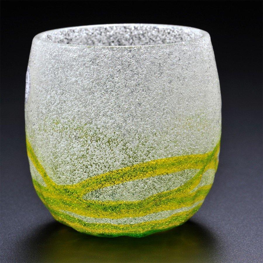 名入れ 琉球硝子 気泡入り樽型ロックグラス 単品