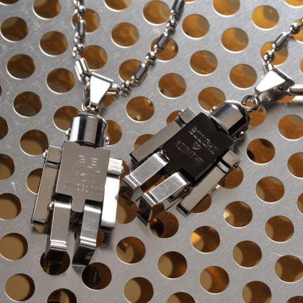 名入れ ロボットチャームネックレス