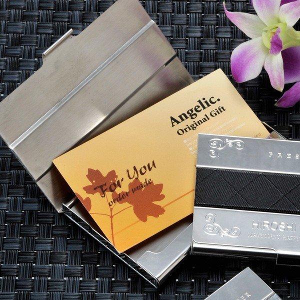 名入れ メタルxファブリック カードケース