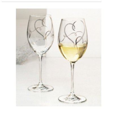 名入れ ベネディーレ プラチナハート ワイングラス ペアセット