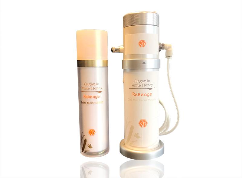 CO2 Mist Facial Machine (シーオーツーミストフェイシャルマシーン)《美顔器(炭酸ガスカートリッジ1本含む)+ エクストラモイストローション(化粧水・120ml)》
