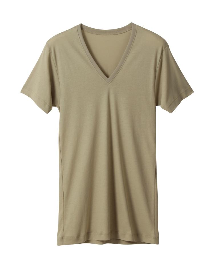 アサメリーひんやりシリーズ(レフィナード加工)V首Tシャツ  全3色