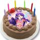 「プリティーシリーズ10周年」上葉みあ キャラクターケーキ5号【バレンタイン】【チョコレートケーキ】