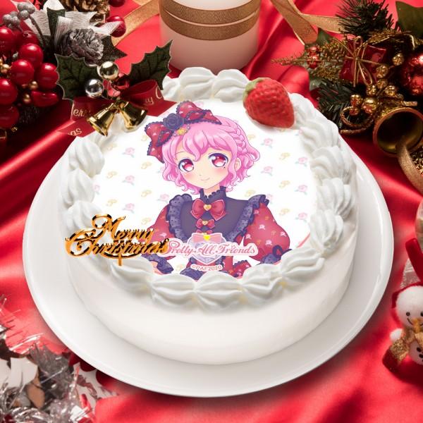 「プリティーオールフレンズ」レオナ・ウェスト キャラクターケーキ5号