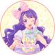 「プリティーオールフレンズ Prizmmy☆」上葉みあ キャラクターケーキ5号【バレンタイン】【チョコレートケーキ】