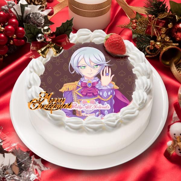 「プリティーオールフレンズ ゴージャスセレブリティ」紫京院ひびき キャラクターケーキ5号