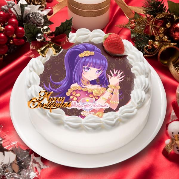 「プリティーオールフレンズ ゴージャスセレブリティ」華園しゅうか キャラクターケーキ5号