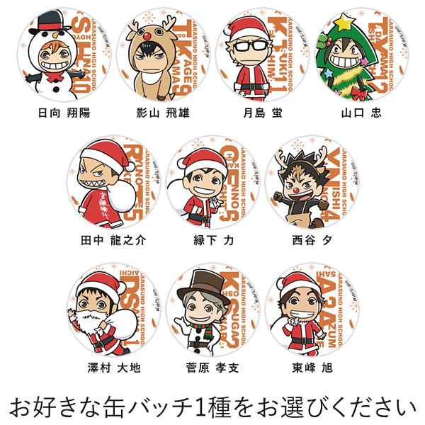 「ハイキュー!!」クリスマスケーキ キャラクターケーキ5号【選べる缶バッチ付き】【お届け指定日入力必須】