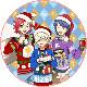 「WITH」クリスマスケーキ キャラクターケーキ5号【選べる缶バッチ付き】【お届け指定日入力必須】