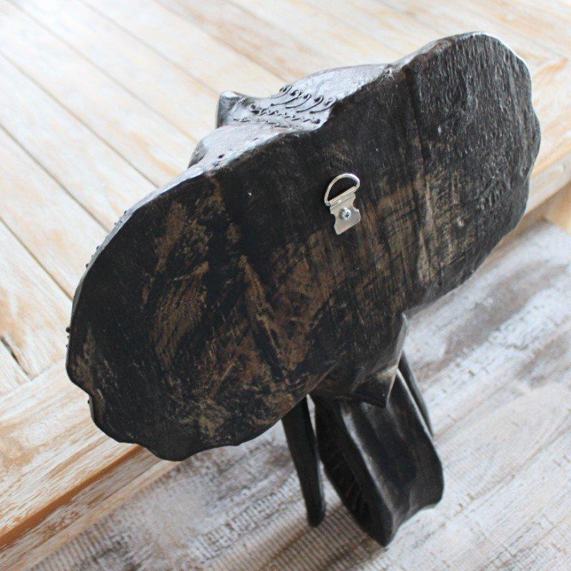 ウォールデコレーション 壁掛け レリーフ 木製 ゾウ