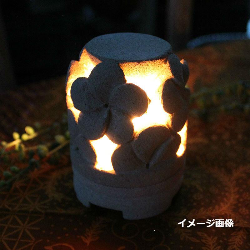 パラス石のプルメリアキャンドルホルダー( ティーキャンドル1個付き)