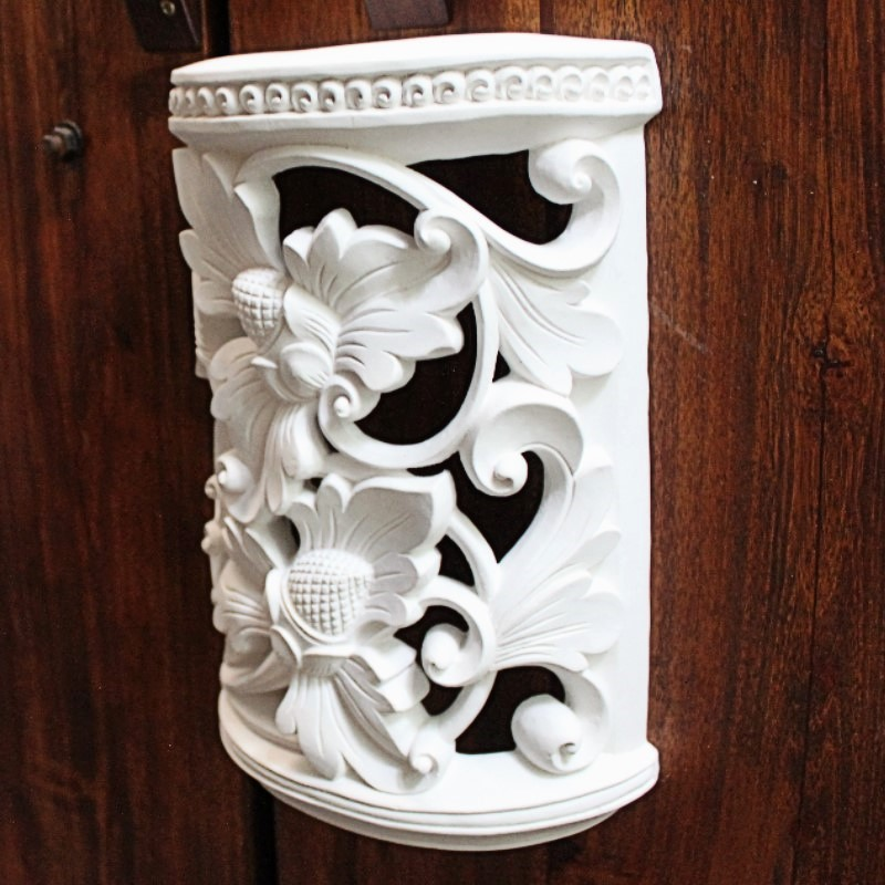 ストーンランプカバー 室内用 壁飾り フラワー(照明なし)