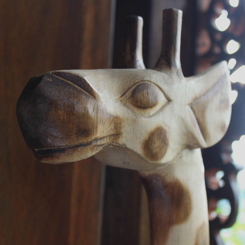 木彫り置物キリン150cmナチュラル