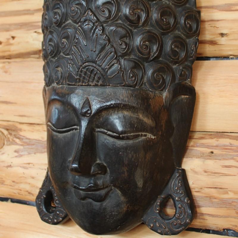 ウォールデコレーション 壁掛け レリーフ 木製 ブッダ