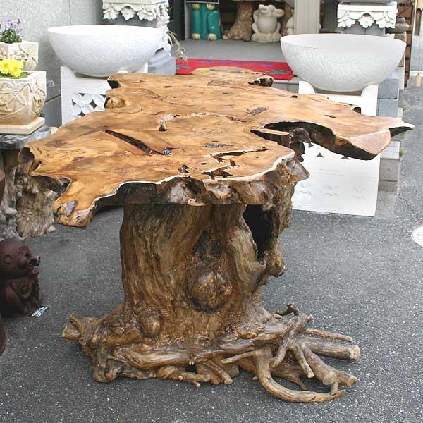 バリ島から素敵な1枚板の天板【プルメリアのテーブル L】