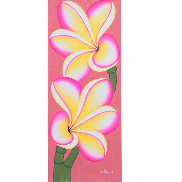 花のイラスト・プルメリア花の絵画WS−3