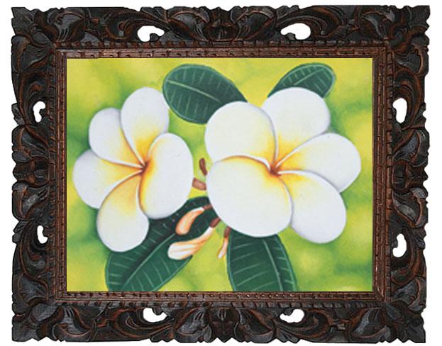 プルメリアの花の絵画17