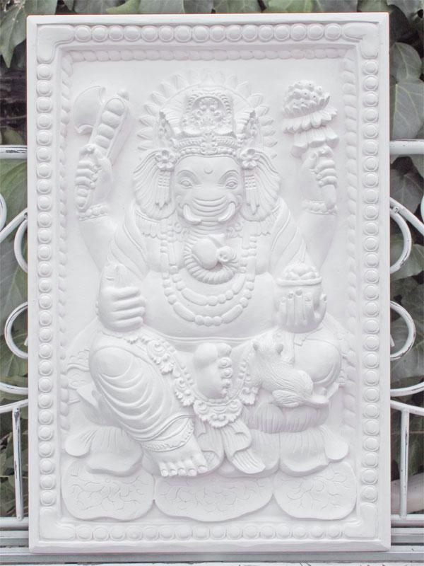 アジアン彫刻 ガネーシャレリーフ