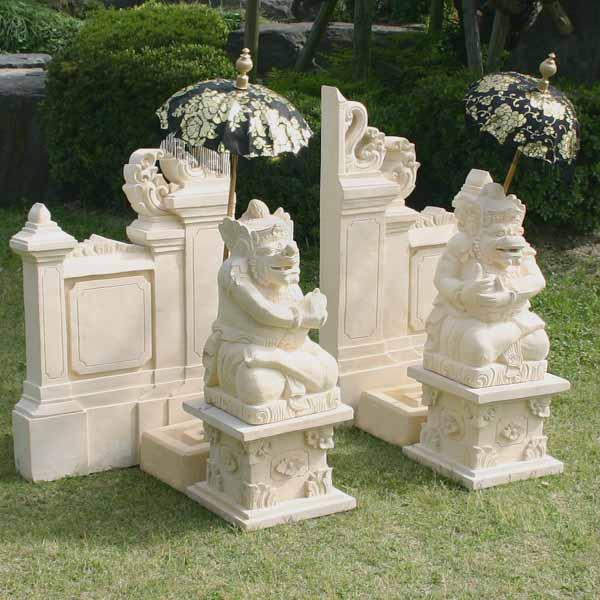 商売繁盛の置物!バリの石像トゥアレン&ムルダ40