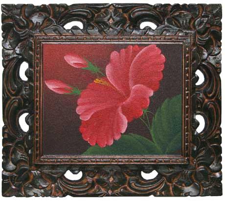 おしゃれな花の絵・ハイビスカスの花の絵画S9