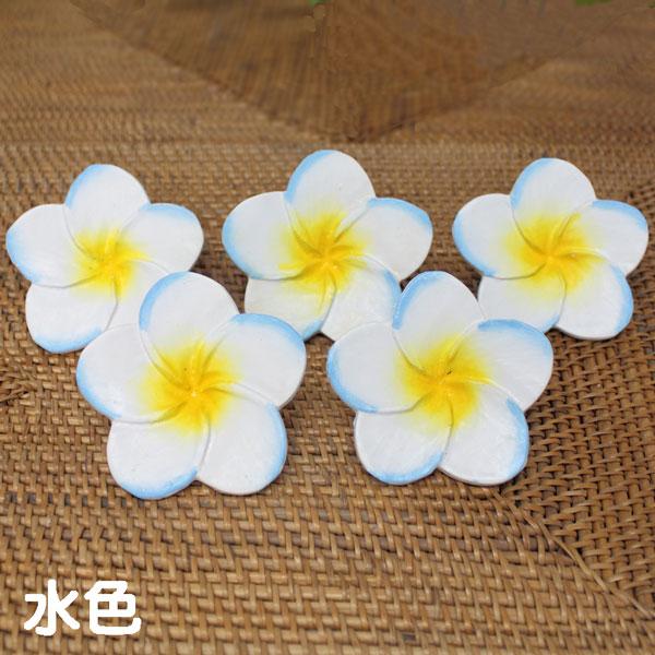 木彫りの造花 プルメリアの花 大
