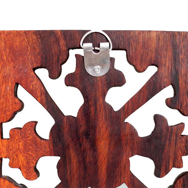 木彫りのレリーフ プルメリアクロス