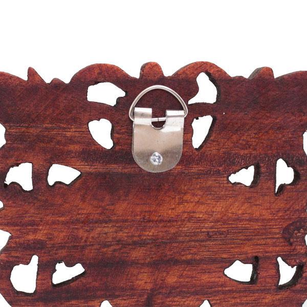 木彫りのアジアンレリーフ バリフラワー