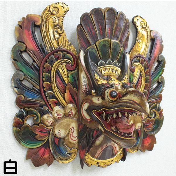限定2品!木彫りのお面・壁掛け 特大ガルーダ