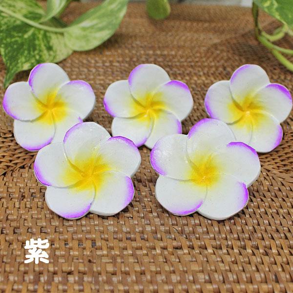 木製の造花 プルメリアの花 小花びら丸