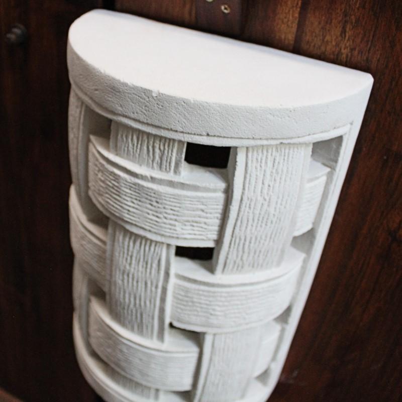 ストーンランプカバー 室内用 壁飾り 格子(照明なし)