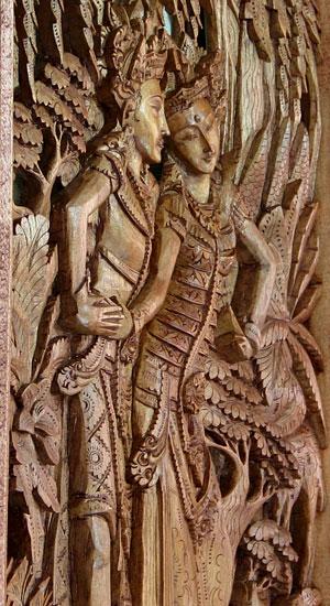 バリアートの透かし彫り・ラーマ&シータa