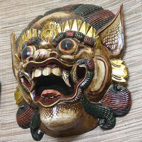 壁掛けインテリア バリの魔人ラクササ マスク ウォールデコレーション