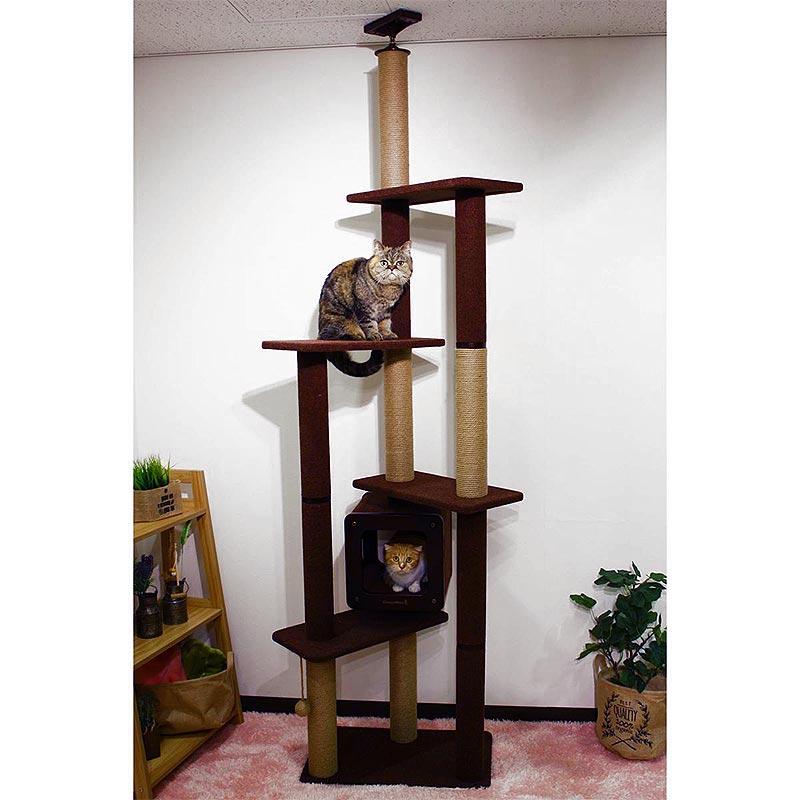 コストコ Costco 猫用タワー モダンルーム スクラッチ タワー ダブル キャットツリー 【ITEM/27812】 | キャットタワー 爪とぎ
