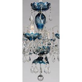 高級青い切子シャンデリア CH−06GA−BLUE/6灯  ※在庫確認必須