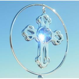 誕生日プレゼント/スワロフスキー/キラキラ輝くクロスの置物