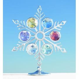 誕生日プレゼント/スワロフスキー/雪の結晶の置物2