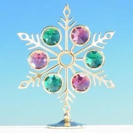 誕生日プレゼント/スワロフスキー/雪の結晶の置物1