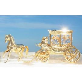 スワロフスキー SWAROVSKI クリスタル / 王室 馬車 置物 1