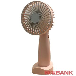 ハンディファン 扇風機 バンドファン ピンク色 (Portable USB handy fan)