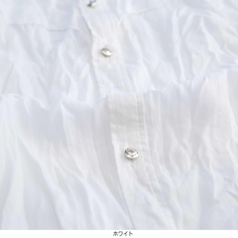 リネンウエスタン六分シャツ