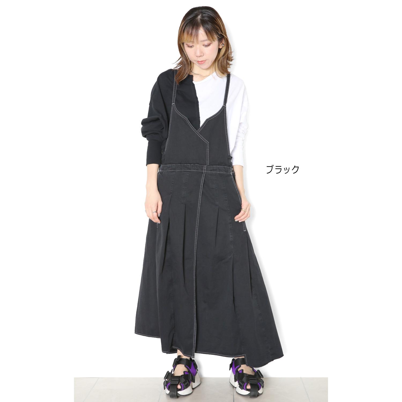 フレアチューブサロペットスカート