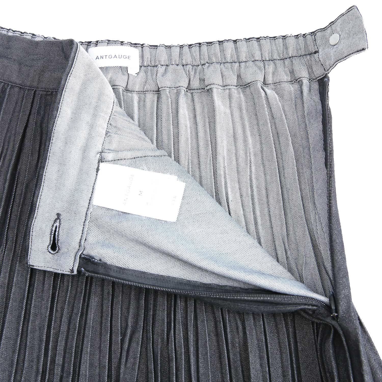 デニムプリーツスカート