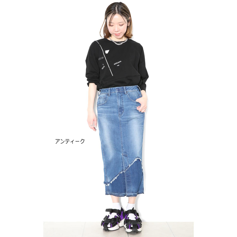 デニムタイトスカート(Olivia)